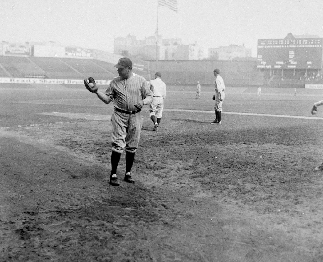 Home run king Babe Ruth of the New York Yankees is seen in 1927.  (AP Photo)