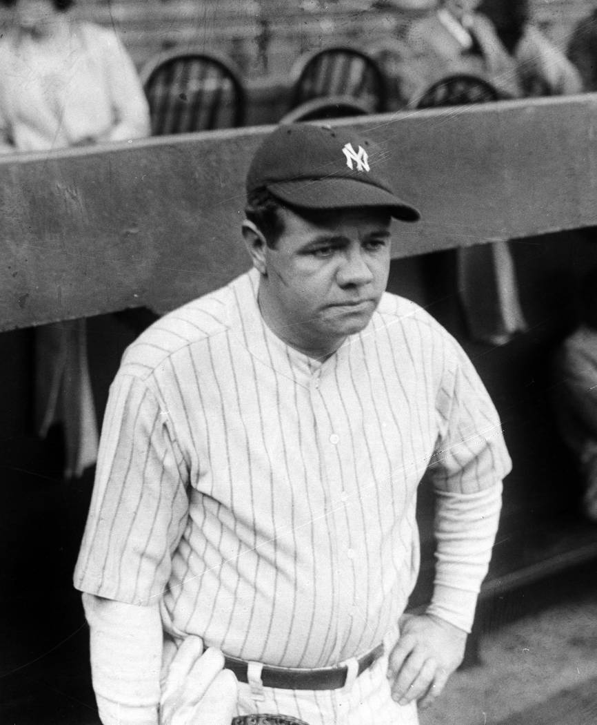 Home run king Babe Ruth of the New York Yankees is seen in New York, Sept. 27, 1927.  (AP Photo)