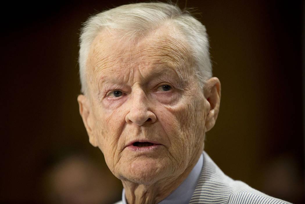Former National Security Adviser Zbigniew K. Brzezinski testifies on Capitol Hill in Washington in 2014. (AP Photo/Pablo Martinez Monsivais, File)