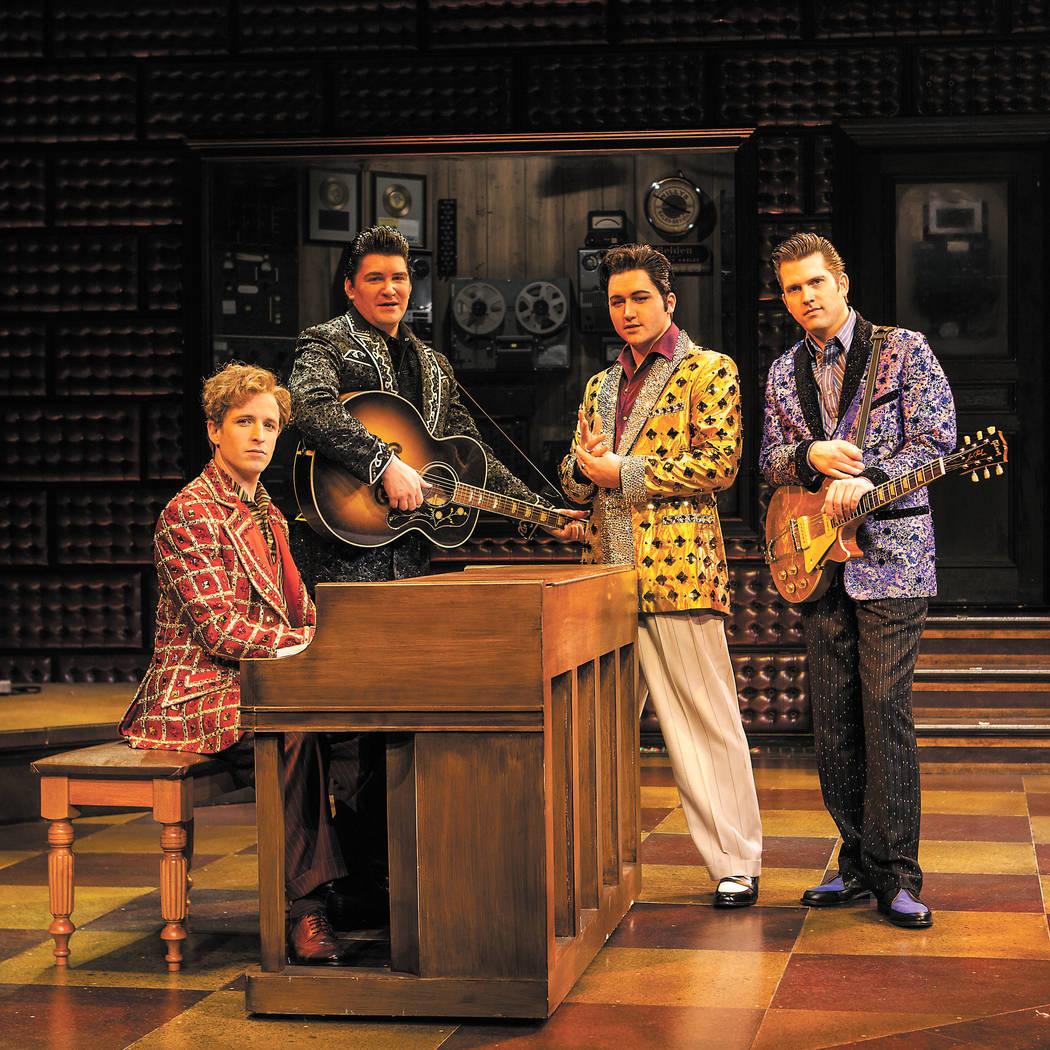 Million Dollar Quartet pose in the Harrah's Showroom at Harrah's Las Vegas on Saturday, Jan. 26, 2013. (Chase Stevens/Las Vegas Review-Journal)