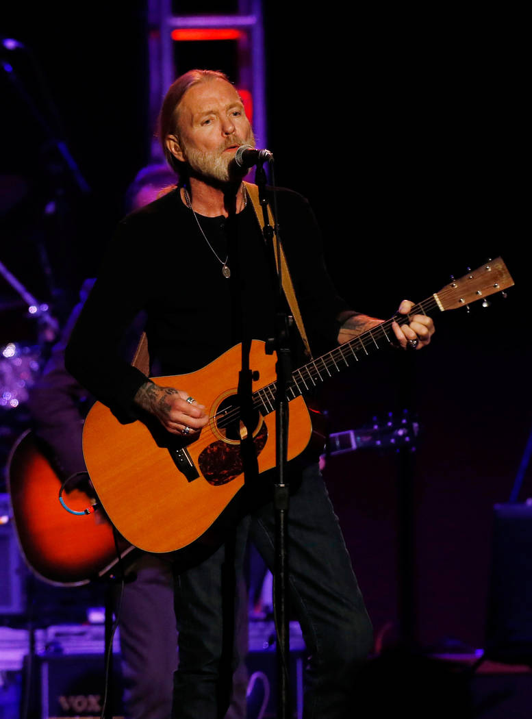 "Musician Gregg Allman performs during the ""Love for Levon"" charity event at the Izod Center in East Rutherford, New Jersey October 3, 2012. (Shannon Stapleton/Reuters)"