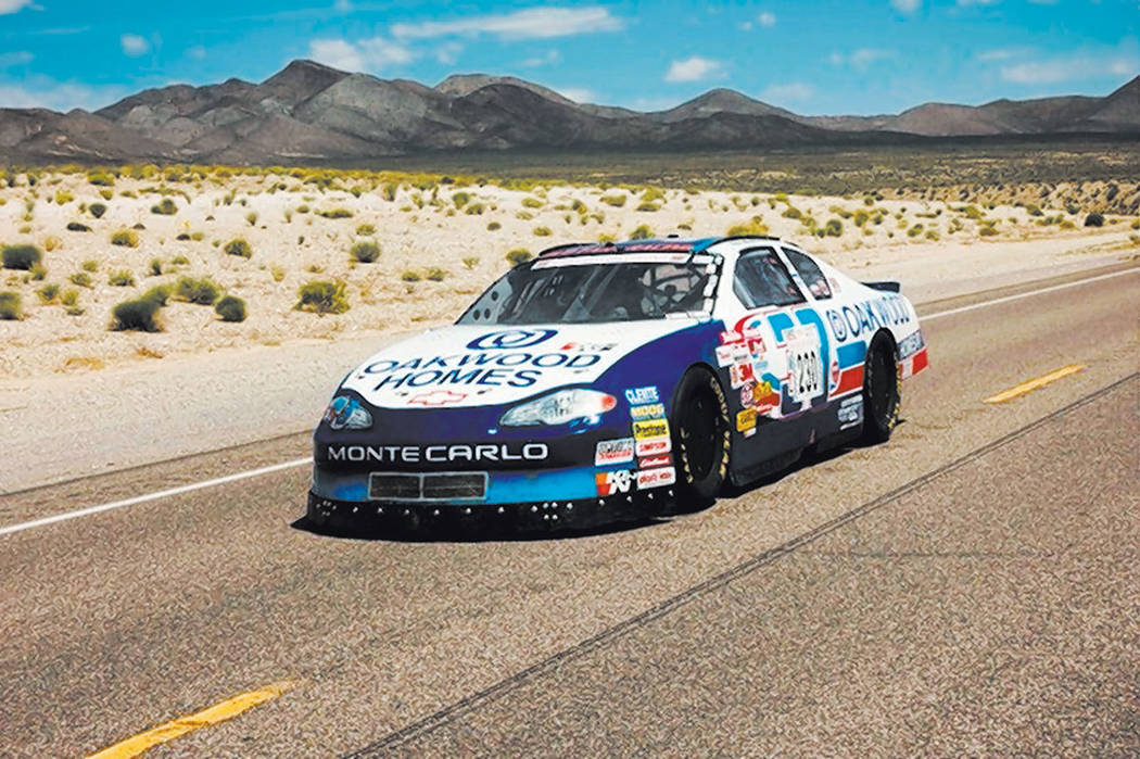 The 2001 Chevrolet Monte Carlo Robert Allyn and David Bauer bought and modified. Allyn drove the car during the Nevada Open Road Challenge, where he beat the Guinness World Record for fastest spee ...