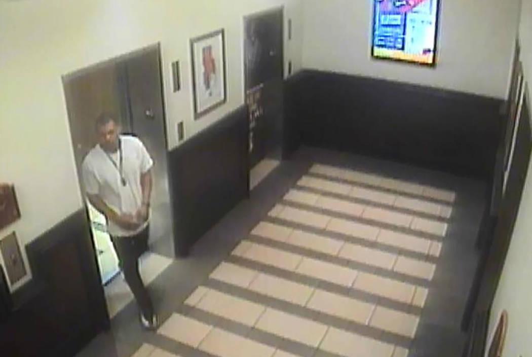 Santa Fe Casino surveillance cameras captured the armed suspect Nevada Highway Patrol is looking for. (Nevada Highway Patrol)