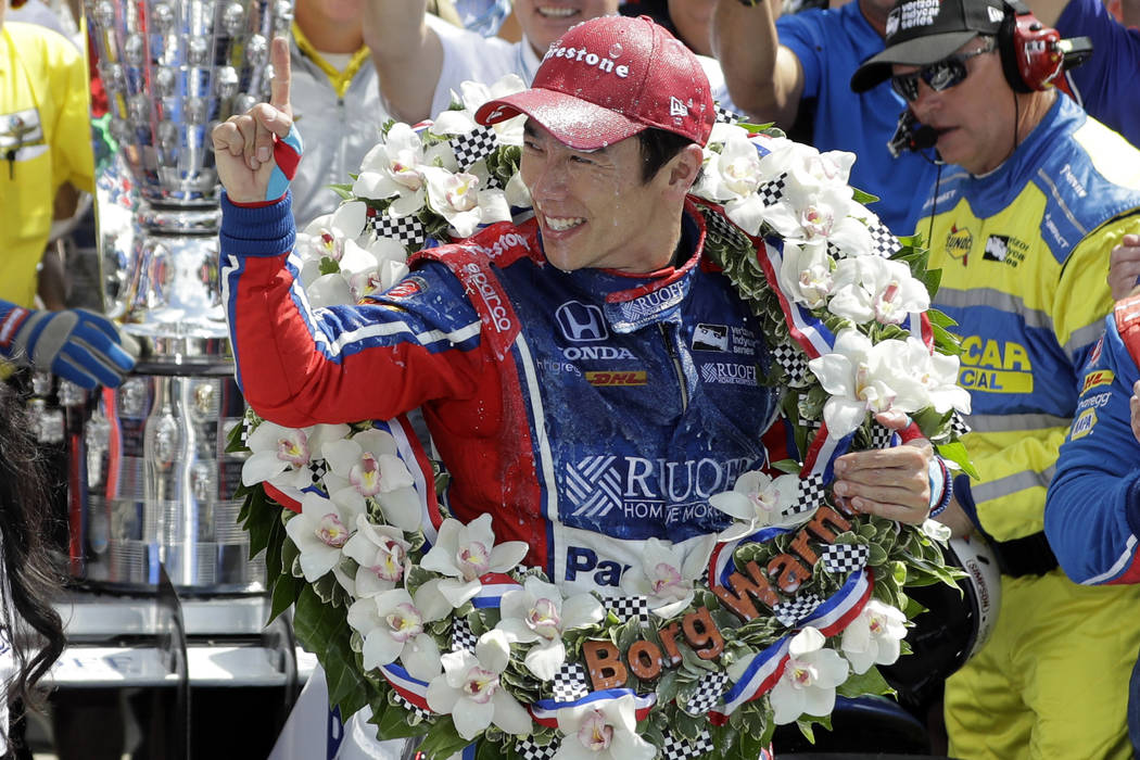 Image result for takuma sato wins 2017 indy 500
