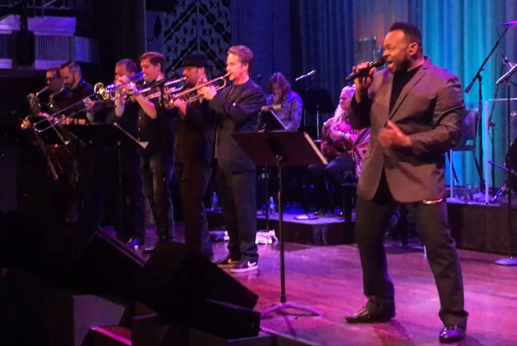 Lannie Counts sings with the Lon Bronson Band at Cabaret Jazz at the Smith Center on Saturday, May 27, 2017. (John Katsilometes/Las Vegas Review-Journal) @JohnnyKats