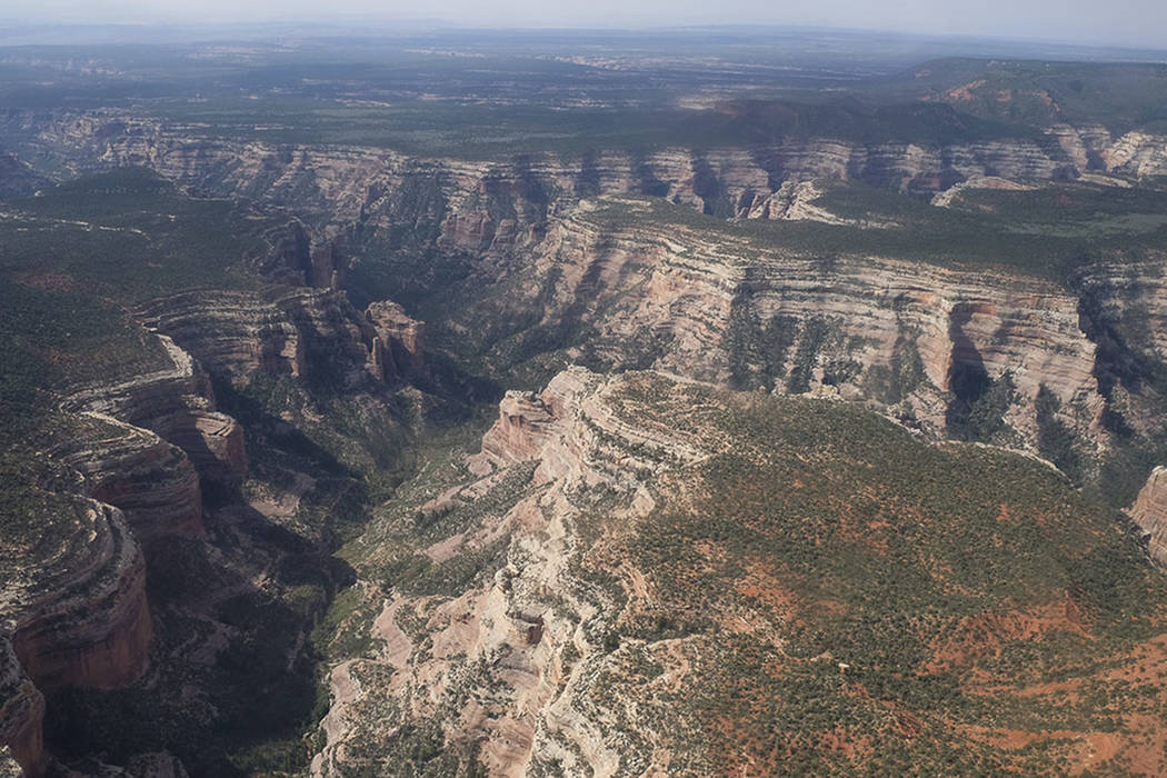 An aerial view of Arch Canyon within Bears Ears National Monument in Utah. (Francisco Kjolseth /The Salt Lake Tribune via AP, File)