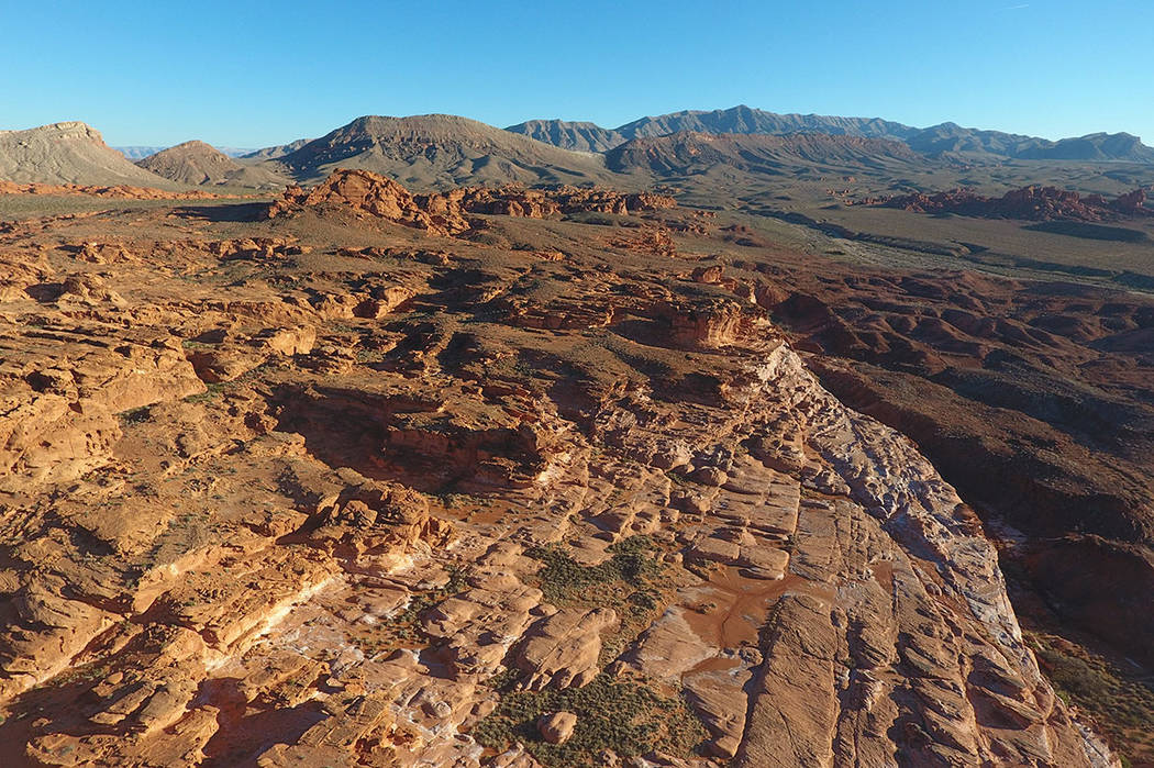 An aerial view on Tuesday, January 17, 2017 of Little Finland in Gold Butte National Monument. (Michael Quine/Las Vegas Review-Journal) @Vegas88s