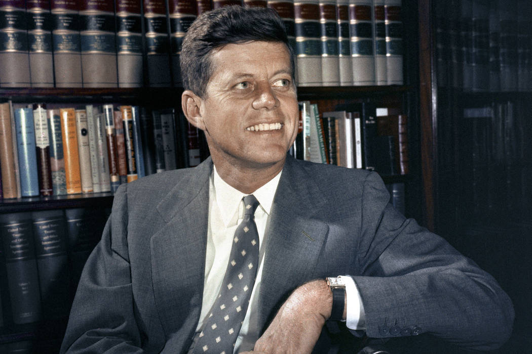 In this Feb. 27, 1959, file photo, Sen. John F. Kennedy, D-Mass., is shown in his office in Washington. Monday, May 29, 2017 marks the 100-year anniversary of the birth of Kennedy, who went on to  ...