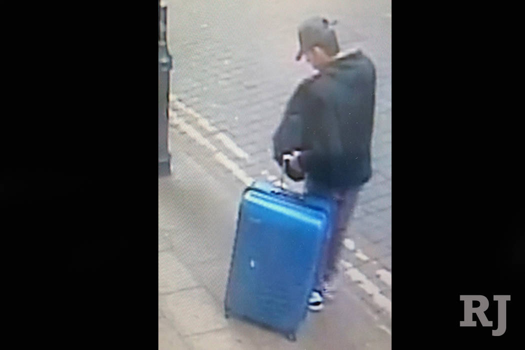 This is a handout photo taken on Monday, May 22, 2017, from CCTV and issued on Monday, May 29, 2017 by Greater Manchester Police of Salman Abedi in an unknown location of the city centre in Manche ...