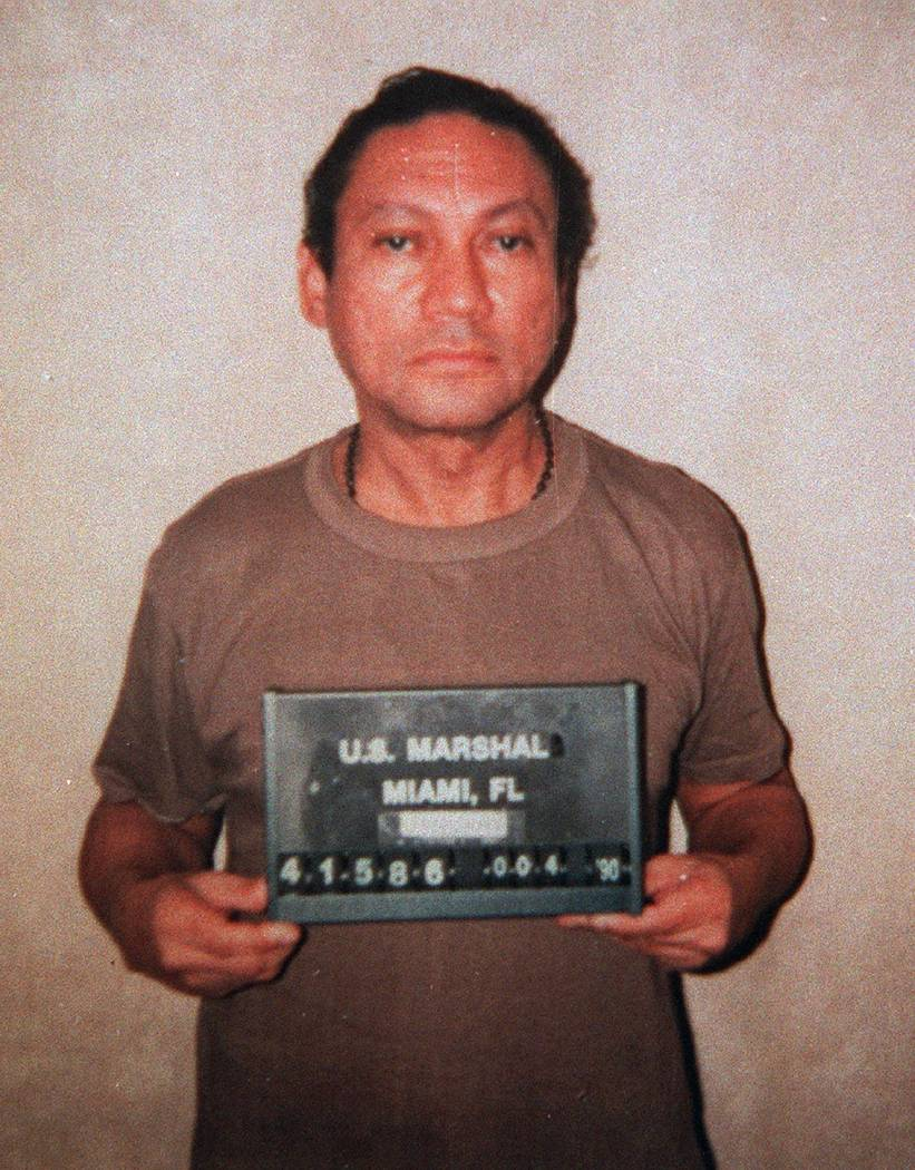 FILE - This Jan.1990, file photo shows deposed Panamanian Gen. Manuel Antonio Noriega, who is serving a 40-year sentence in Miami for drug trafficking. A source close to the family of former Panam ...