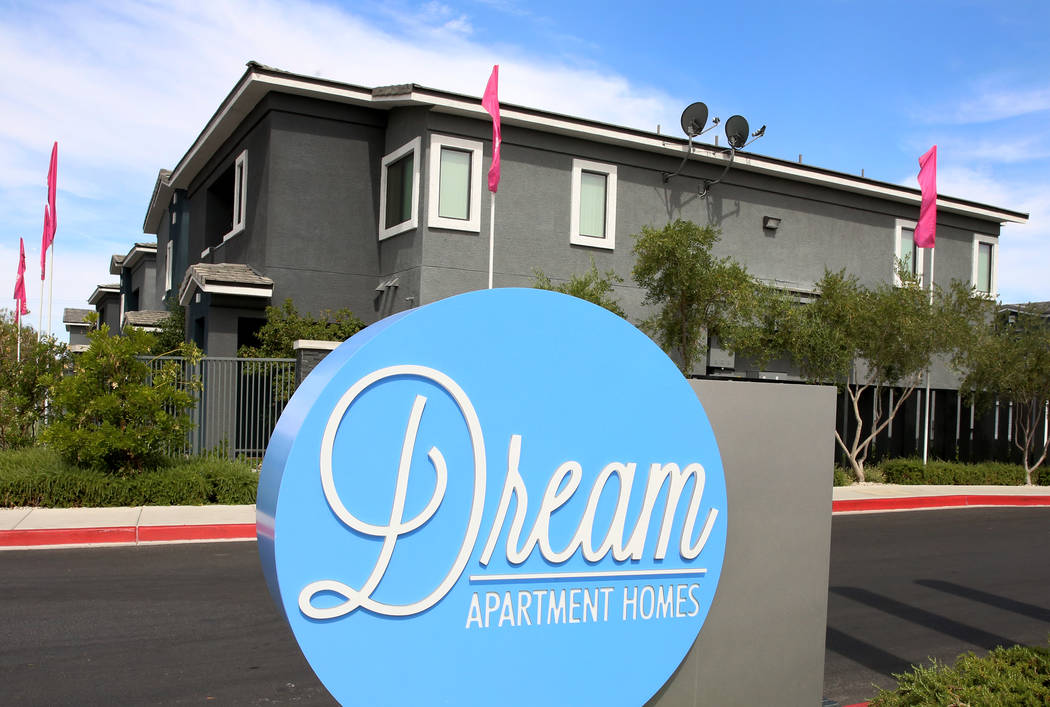 Dream apartment complex on 1005 Wigwam Parkway in Henderson on Tuesday, May 30, 2017. The Blackstone Group, a New York investment giant, has bought three Las Vegas Valley apartment complexes, incl ...