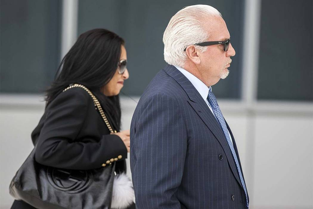 Rick Rizzolo, the former owner of Crazy Horse Too, walks into the Federal Courthouse to plead guilty on Wednesday, May 31, 2017. Patrick Connolly Las Vegas Review-Journal @PConnPie