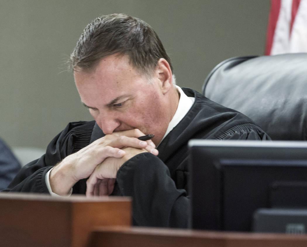 District Judge William Kephart at the Regional Justice Center on Wednesday, Dec. 7, 2016. Jeff Scheid/Las Vegas Review-Journal Follow @jeffscheid