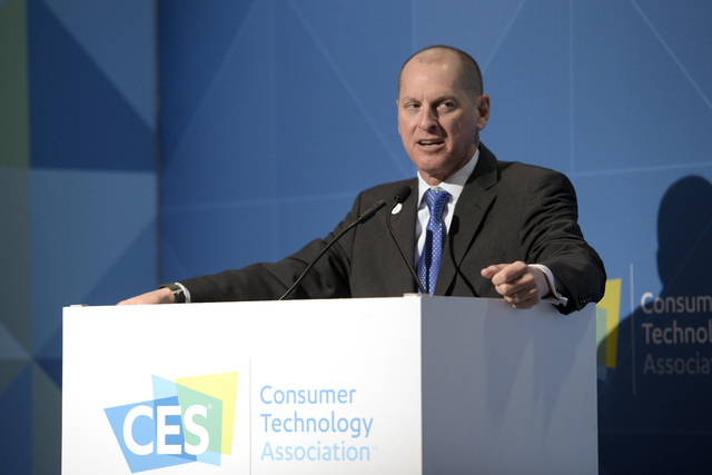 President and CEO of the Consumer Technology Association Gary Shapiro speaks during the 2017 CES kickoff news conference Wednesday, Jan. 4, 2017, at the Las Vegas Convention Center. Sam Morris/Las ...