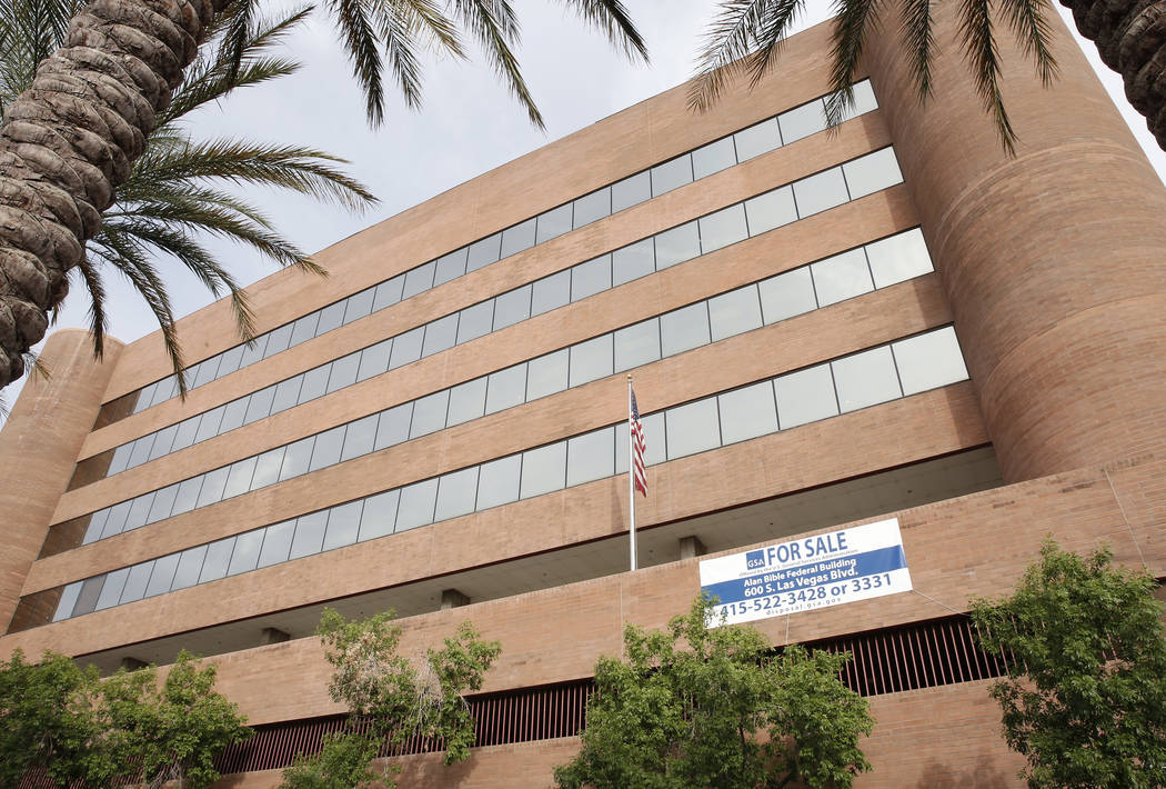 The General Services Administration plans to auction off the seven-story Bible Federal Building on 600 S. Las Vegas Blvd., photographed on Wednesday, May 31, 2017. (Bizuayehu Tesfaye/Las Vegas Rev ...