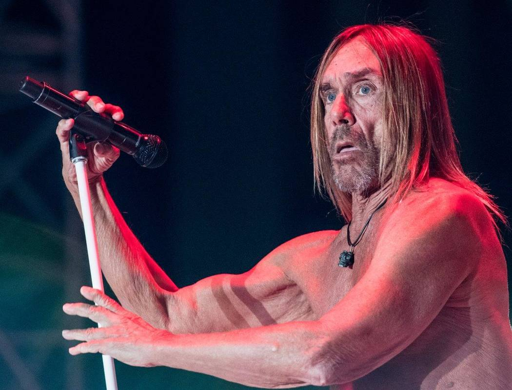 Iggy Pop headlines The Punk Rock Bowling & Music Festival on Saturday, May 27, 2017, at Downtown Las Vegas Events Center. (Tom Donoghue)