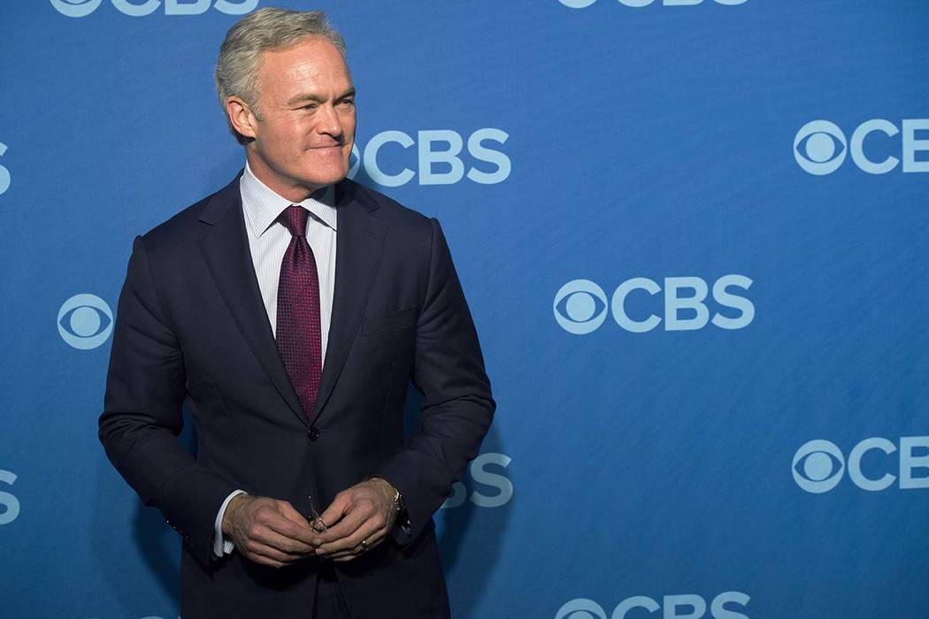 """In this May 15, 2013, file photo, Scott Pelley attends the CBS Upfront in New York. Pelley is out as """"CBS Evening News"""" anchor, and he'll be returning to full-time work at the network's flagship n ..."""