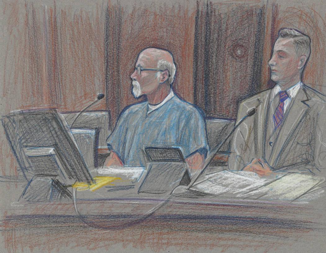 DeLemus and his attorney Dustin Marcello listen to Chief U.S. District Judge Navarro in court Wednesday, May 31, 2017. (David Stroud)