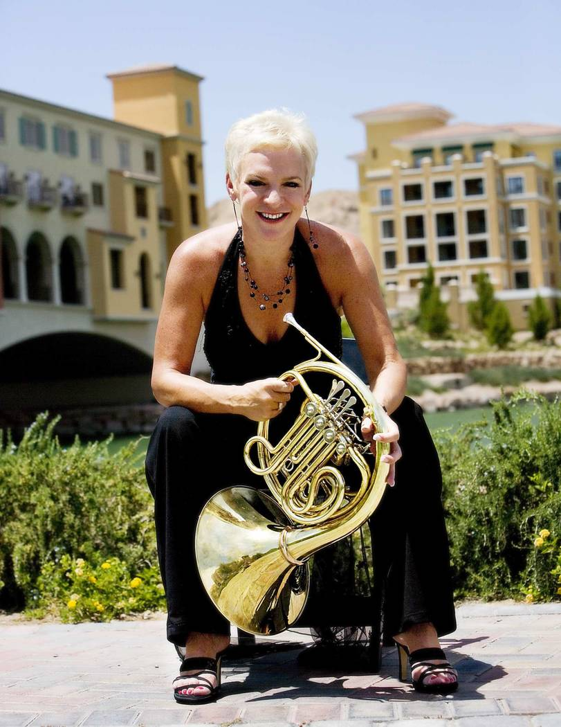 French horn player Beth Lano of Las Vegas. (Courtesy)