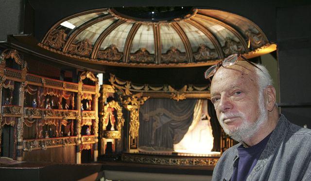 """Producer-director Hal Prince poses for a photograph at Valcom Studios on Monday, May 15, 2006, in Downtown Las Vegas. Prince is reworking the Broadway classic """"The Phantom of the Opera"""" for Las Ve ..."""