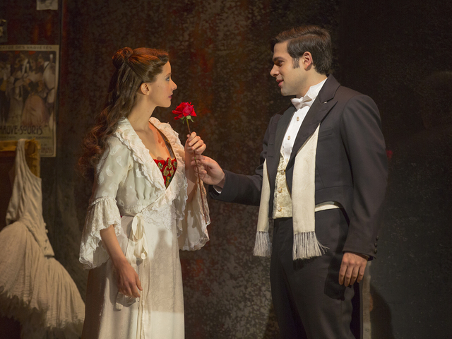 "Katie Travis and Storm Lineberger in ""The Phantom of the Opera."" (Matthew Murphy)"