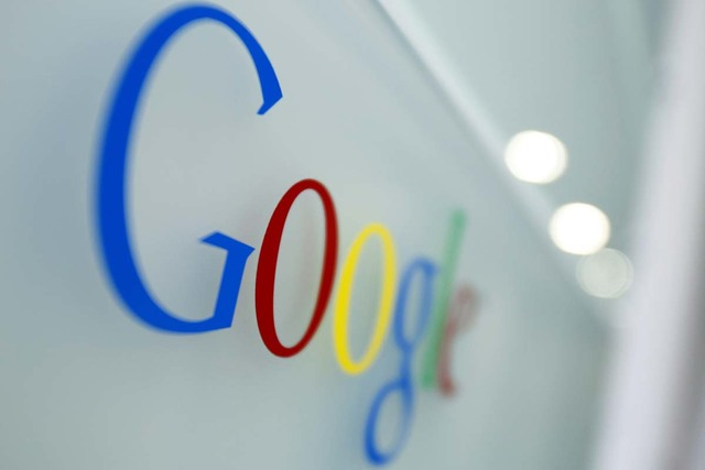 The Google logo is seen at the Google headquarters in Brussels March 23, 2010. (Virginia Mayo/AP)