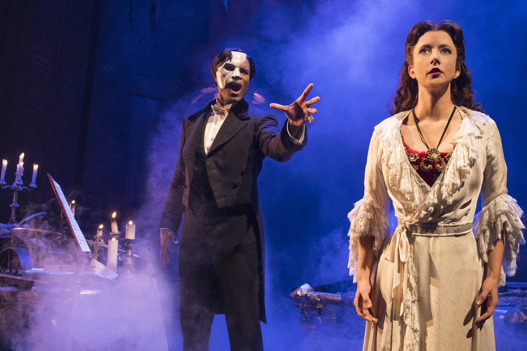 "Derrick Davis and Katie Travis in ""The Phantom of the Opera."" (Matthew Murphy)"