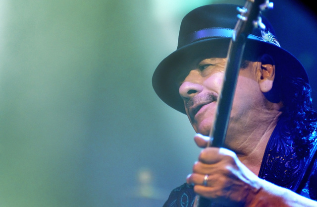 Carlos Santana performs at the House of Blues in Mandalay Bay, 3950 Las Vegas Blvd. South, in Las Vegas on Wednesday, Jan. 21, 2015. (Bill Hughes/Las Vegas Review-Journal)