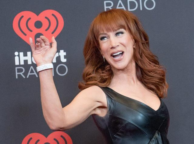 Kathy Griffin arrives at Night 2 of the 2016 iHeartRadio Music Festival at T-Mobile Arena on Saturday, Sept. 24, 2016, in Las Vegas. (Tom Donoghue)
