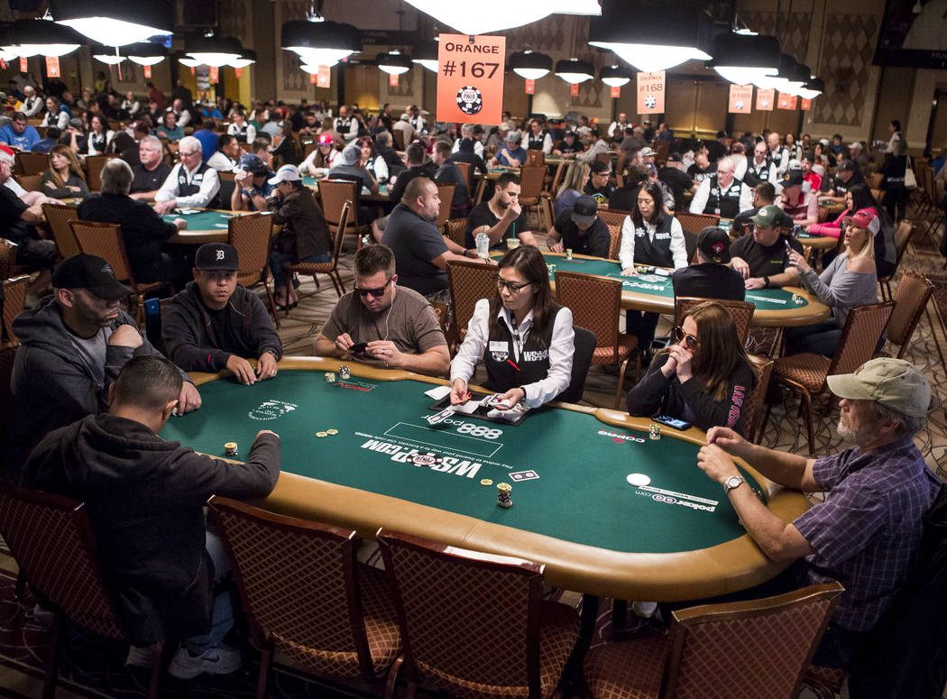 People play poker during the opening of the World Series of Poker at the Rio Convention Center on Wednesday, May 31, 2017. Patrick Connolly Las Vegas Review-Journal @PConnPie