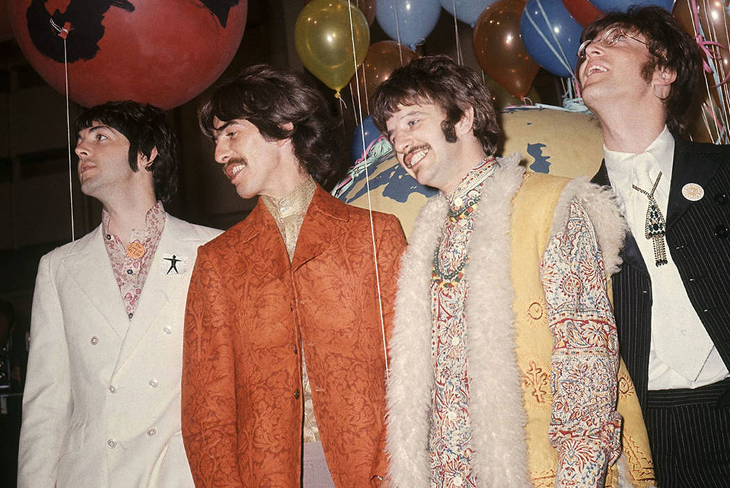 Paul McCartney, from left, George Harrison, Ringo Starr and John Lennon of The Beatles are seen in London in 1967. (AP Photo, File)
