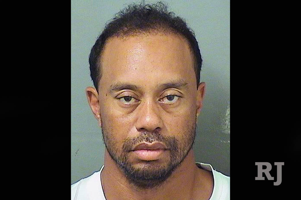 """Eldrick """"Tiger"""" Woods' booking photo in Palm Beach, Florida, on May 29, 2017. (Palm Beach County Sheriff's Office/Handout via Reuters)"""