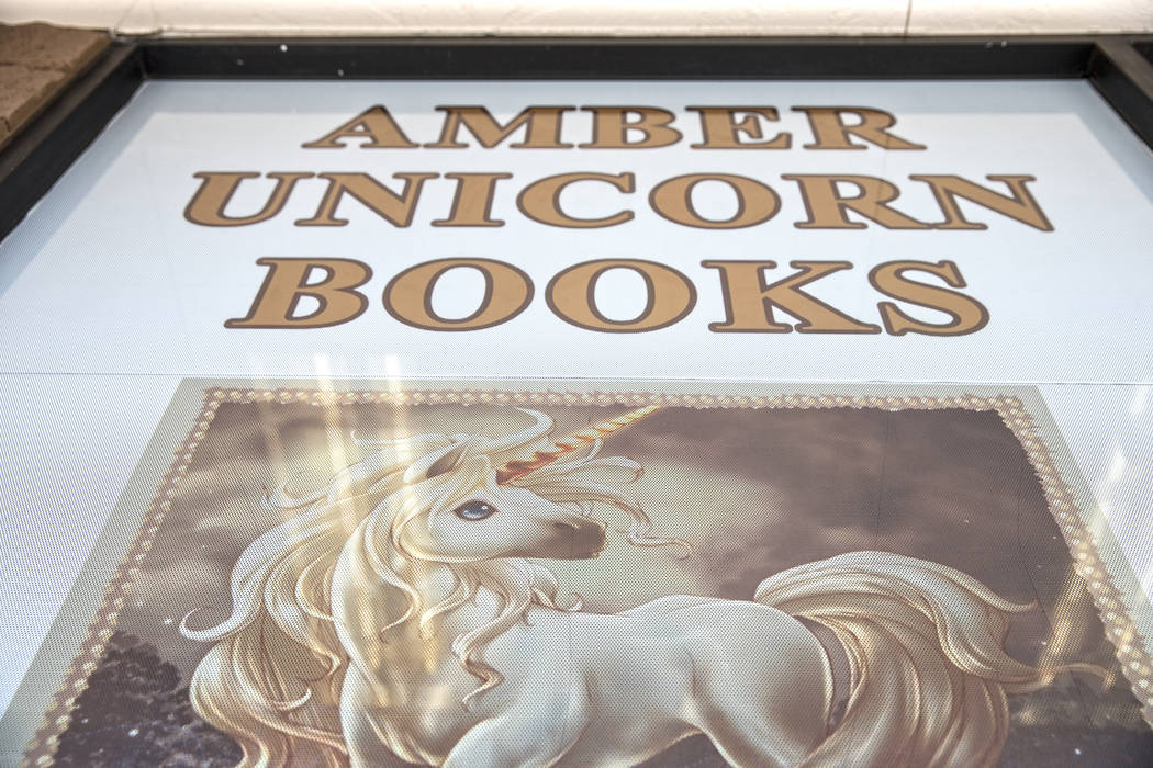 The doors at Amber Unicorn Books have been open for the past 35 years, making it the oldest bookstore in Las Vegas. Photo taken on Monday, March 20, 2017, at Amber Unicorn Books, in Las Vegas. (Be ...