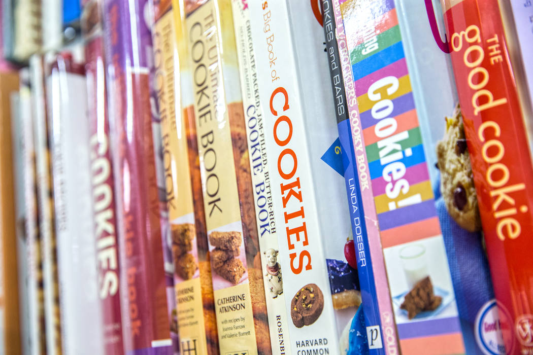 Thousands of cookbooks line the walls of Amber Unicorn Books on Monday, March 20, 2017, in Las Vegas. (Benjamin Hager/Las Vegas Review-Journal) @benjaminhphoto