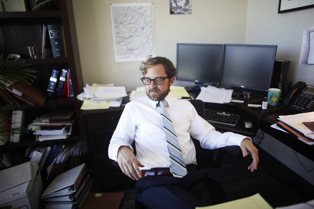 Defense Attorney Michael Lasher at his office on Tuesday, April 25, 2017, in Las Vegas. Rachel Aston Las Vegas Review-Journal @rookie__rae