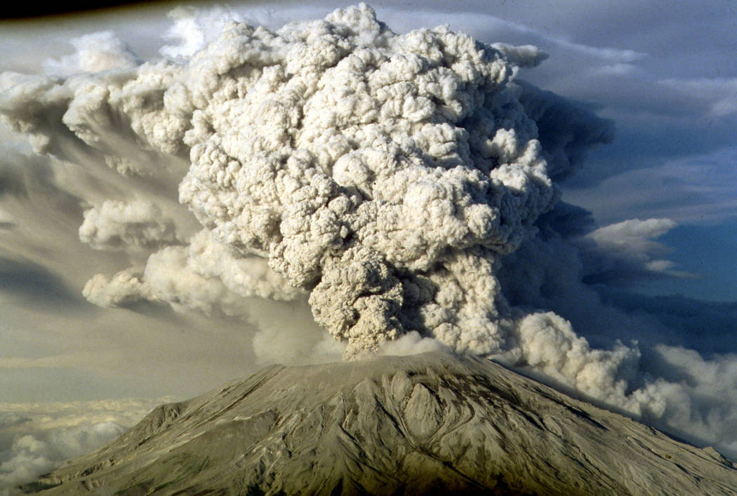 Mount St. Helen's erupts in this July 22, 1980 file photo in Washington State. A private pilot who works in the hazards section of the U.S. Geological Survey's Cascades Volcano Observatory, notice ...
