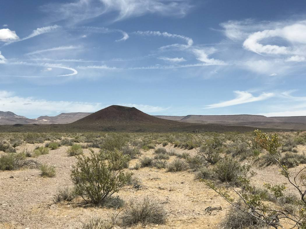 Black Cone in Crater Flat, west of Yucca Mountain, May 22, 2017. Keith Rogers Las Vegas Review-Journal