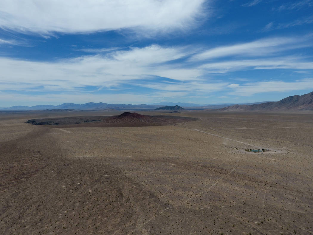 Red Cone, as seen from Black Cone, is one of several volcanic cinder cones that dot the landscape in Crater Flat west of Yucca Mountain, May 22, 2017. Michael Quine/Las Vegas Review-Journal @Vegas88s