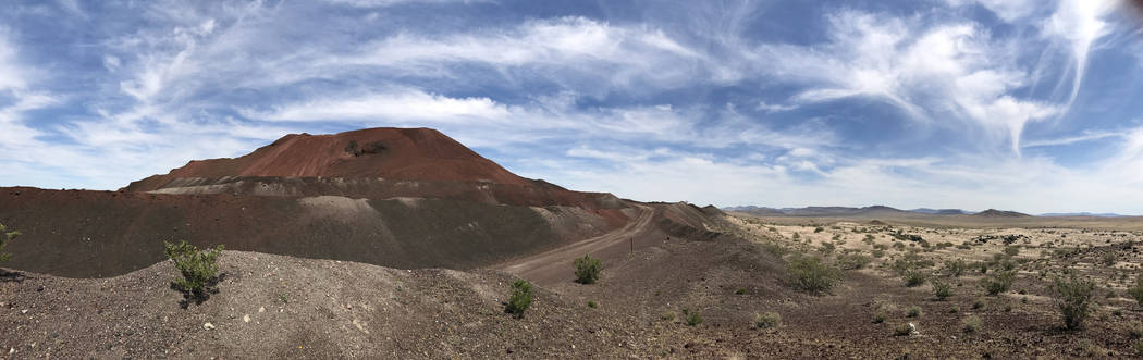 The Lathrop Wells cinder cone in Amargosa Valley is a mining operation owned by the Cind-R-Lite Co., May 22, 2017. Keith Rogers/Las Vegas Review-Journal