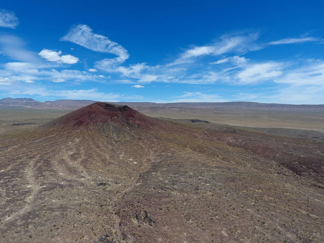 Black Cone is one of several volcanic cinder cones in Crater Flat just west of Yucca Mountain, May 22, 2017. Michael Quine/Las Vegas Review-Journal @Vegas88s