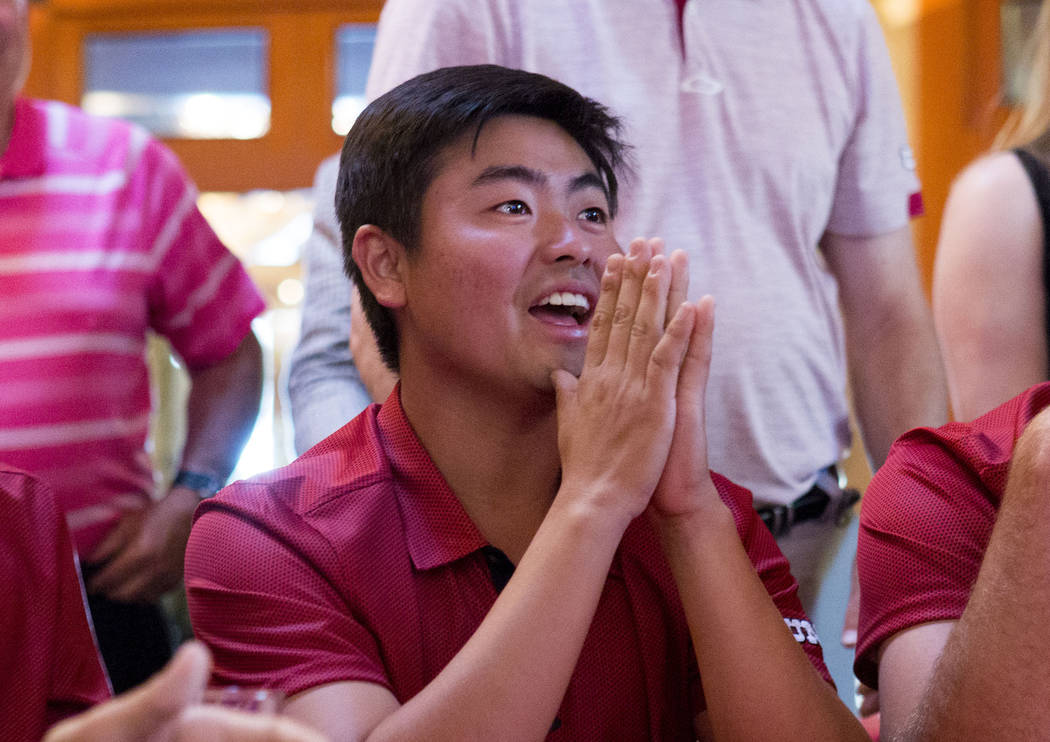 Junior John Oda, who placed in the top 10 in 12 tournaments and won twice this season, is the first UNLV men's golfer to gain All-America first-team status since Ryan Moore in 2005. (Elizabeth Bru ...