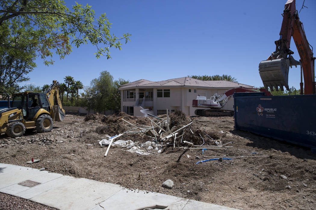 Construction on property linking several homes belonging to UFC president Dana White in the Tournament Hills community on Thursday, May 18, 2017 in Las Vegas. Erik Verduzco/Las Vegas Review-Journal
