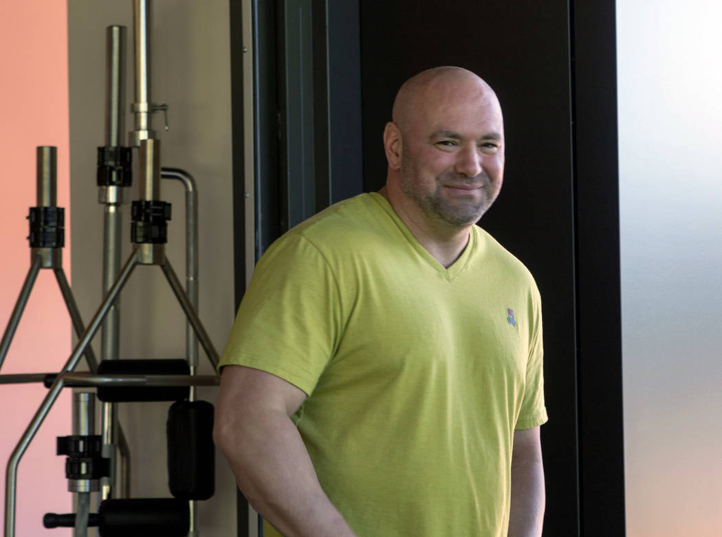 UFC president Dana White visits the UFC Performance Institute in Las Vegas on Friday, May 19, 2017. (Heidi Fang/Las Vegas Review-Journal) @HeidiFang