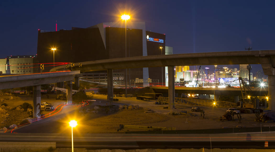 Project Neon construction goes on around the Spaghetti Bowl in Las Vegas on Thursday, June 8, 2017. Chase Stevens Las Vegas Review-Journal @csstevensphoto