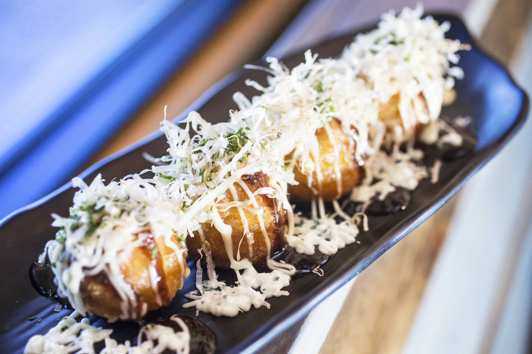 Takoyaki at Ohjah Noodle House on Thursday, May 25, 2017, in Henderson. Benjamin Hager Las Vegas Review-Journal @benjaminhphoto