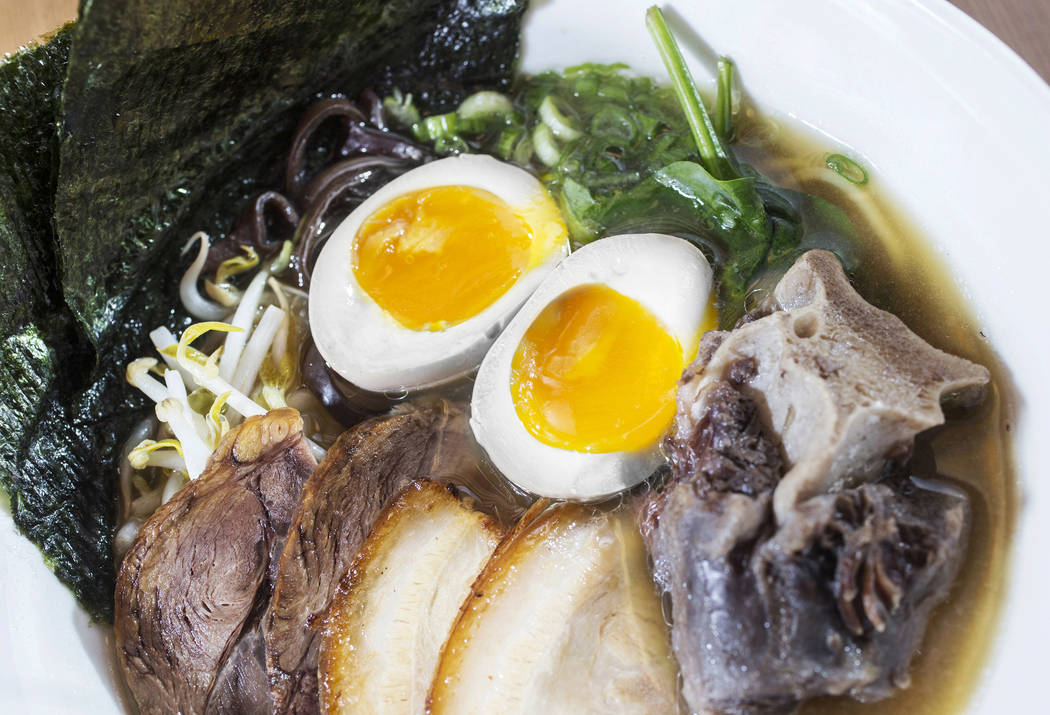 The ohjah house ramen at Ohjah Noodle House on Thursday, May 25, 2017, in Henderson. Benjamin Hager Las Vegas Review-Journal @benjaminhphoto