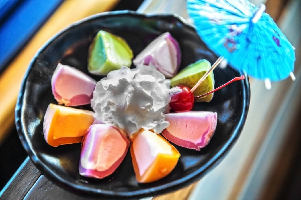 Mochi ice cream at Ohjah Noodle House on Thursday, May 25, 2017, in Henderson. Benjamin Hager Las Vegas Review-Journal @benjaminhphoto