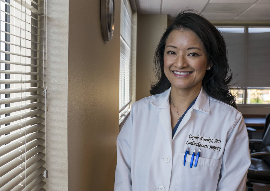 Dr. Quynh Feikes at her office on the Spring Valley Hospital campus on Wednesday, May 24, 2017. Dr. Feikes is the only female cardiac surgeon in Nevada. (Patrick Connolly/Las Vegas Review-Journal) ...