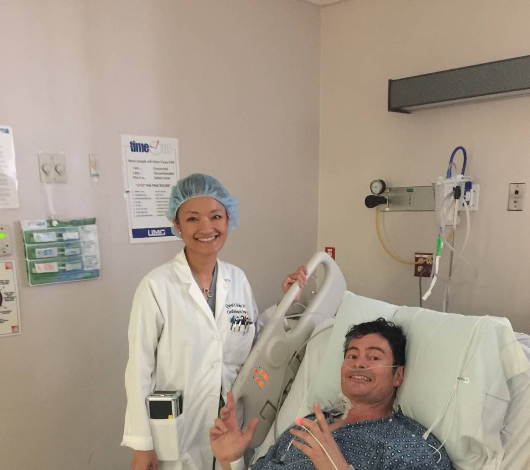 In 2016, cardiovascular surgeon Dr. Quynh Feikes saved the life of Allen Hughes. (Hughes family)