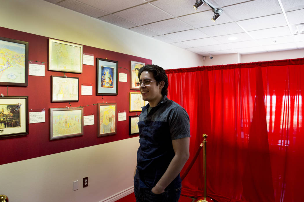 Artist Benjamin Mazone at his Disney gallery at Spiritual Art Gallery and Museum in Henderson, Wednesday, May 24, 2017. (Elizabeth Brumley/View) @EliPagePhoto